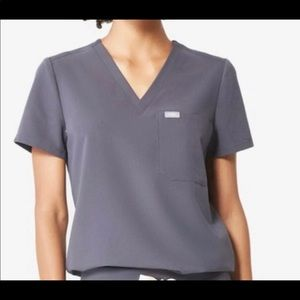 Figs scrub top charcoal S
